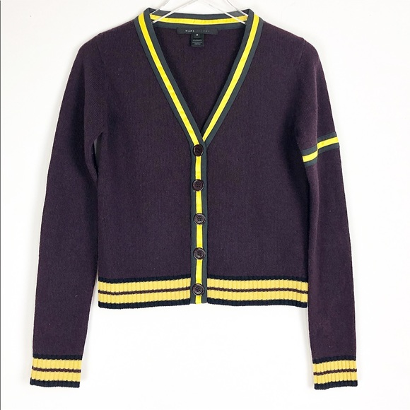 Marc Jacobs Sweaters - Marc Jacob | Purple wool Button down cardigan
